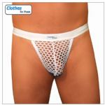 Mens G String - White Mesh